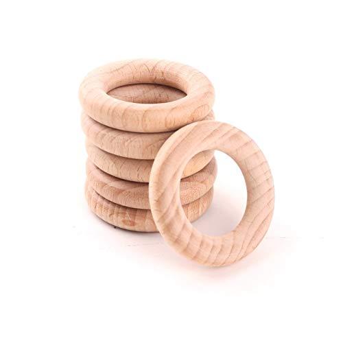 en Ring - 2,56 Zoll Durchmesser (68mm) ideal für Schmuck Beißringe Ringe werfen Spiele kaubare DIY Handwerk Wand Beißring as picture show ()