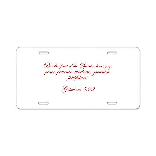 But The Fruit of The Spirit is Love Joy Peace Pati Gifts Custom Personalized Aluminum Metal Novelty License Plate Cover Front Auto Car Accessories Vanity Tag- 6x12 Inches Fruit Decorator