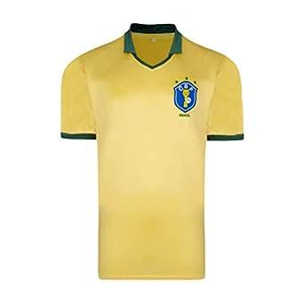Official Retro Brasil 1986 World Cup Finals shirt 60% cotton 40% polyester