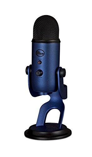 Blue Microphones Yeti - Micrófono para ordenador (USB, 16-bit, 48 KHz, 16 ohms, 20 Hz - 20 kHz), Azul (Midnight Blue)