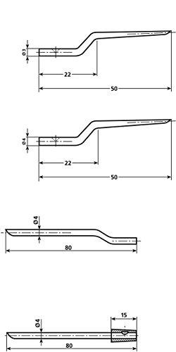 HellermannTyton Ersatzdorne NA-1K/3 DORNE Zubehör für Zangen und Klemmen 4031026185286