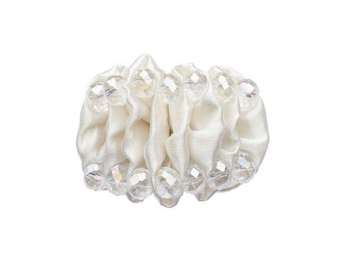 """La Loria - Donna Clip Decorative Per Scarpe """"Lovely Caterpillar"""" Gioielli, Spille, le clip del pattino in colore bianco - 1 Coppia"""