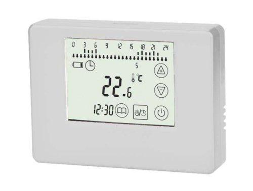 SM-PC®, Thermostat Touchscreen ivory, Aufputz, potentialfreier Ausgang, Batteriebetrieben,für Fußbodenheizungen mit 2-Draht Verkabelung geeignet #769