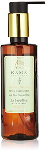 Kama Ayurveda Lavender Patchouli Hair Cleanser with Pure Essential Oils of Lavender and Patchouli, 200ml