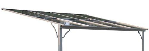 Ersatzdach Terrassendach Hardtop Anbau Pergola 3x3,6m Doppelstegplatten Polycarbonat Carport