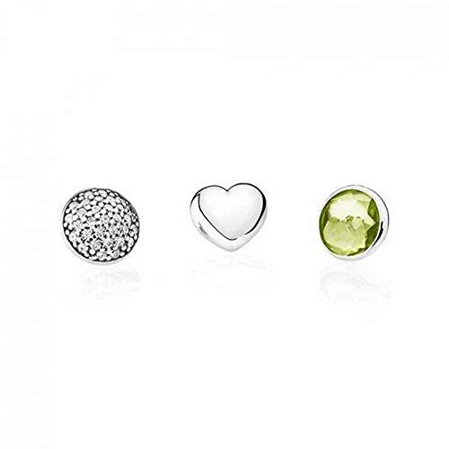 Pandora-parure di gioielli da donna 792091pe, argento 925con zircone verde