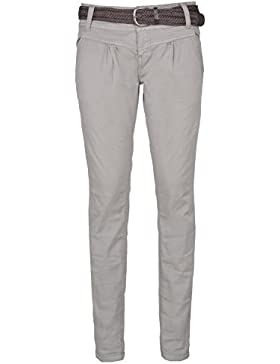 Urban Surface Pantaloni chino da donna | Eleganti pantaloni in tessuto con cintura intrecciata in comodo cotone