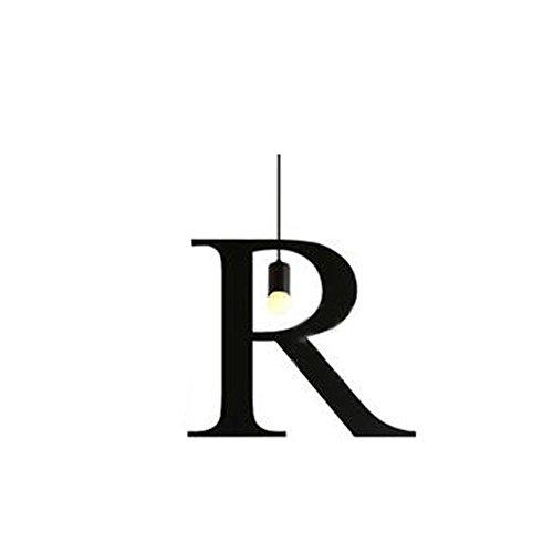 HTRPF Loft Retro personnalité créative Restaurant Bar Café lettre de fer Chandelier , R