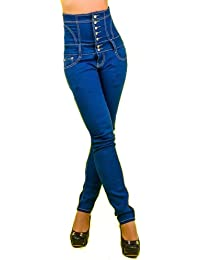 1/2 price BLUE redail celebrity style CORSET skinny FIT FLAT TUMMY Mid Rise JEANS PANT TROUSER shape wear bum lift FITTED denim stretchy high waisted cocktail trouser/pant night out size 8 10 UK