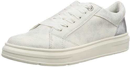 s.Oliver Damen 5-5-23627-22 192 Sneaker, WHT SILV. Comb, 42 EU