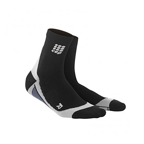 CEP SHORT SOCKS Herrensocken Socken Compression Laufsocken Running Sportsocken (Schwarz/Grau, IV-(42-44))