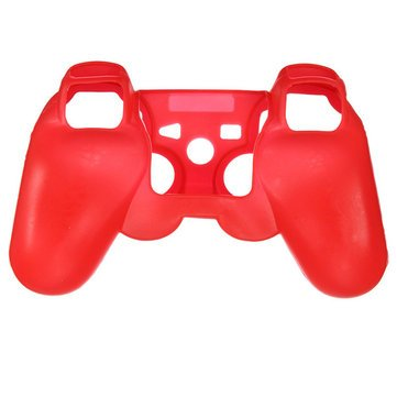 Silicone Protective Skin Case Cover For Sony PlayStation 3 PS3 Controller (Red)