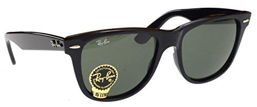 Ray-Ban Icons Original Wayfarer 2140 - Gafas de sol (con lentes G15, 54 mm), color negro