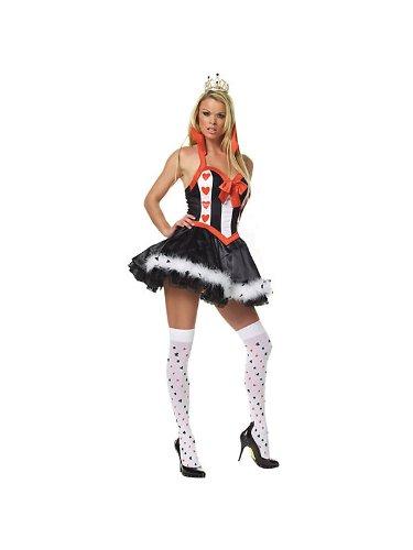 Sexy Alice im Wunderland-Queen of Hearts Kostüm (Alice Wunderland Kostüme Im Home)