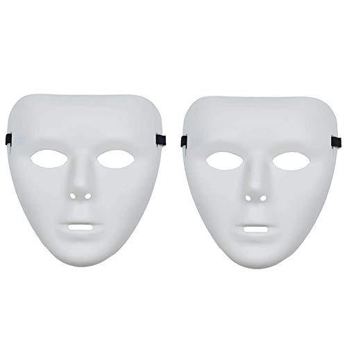 Kostüm Für Tänzer - Christ For Givek 2PCS Halloween Spaß Diversity Maskenball-Maske Halloween Maske für Festival Cosplay Halloween Kostüm Tänzer Geist Maske Weiße PVC