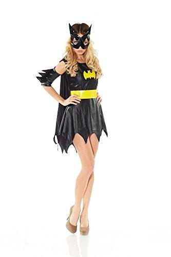 Girls Gotham Batgirl Kostüme Erwachsene (Kostüm BATGIRL für Fasching Karneval,)