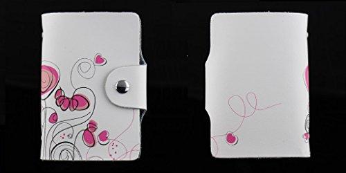 MYLB LEDER KREDITKARTENETUI KARTENETUI VISITENKARTENETUI mit Platz für 26 Kreditkarten bei Doppelbelegung mit Karten (QGY-BK) NRH