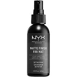NYX Professional Makeup Spray Fixateur, Tenue Longue Durée, Fini Mat, 60 mL
