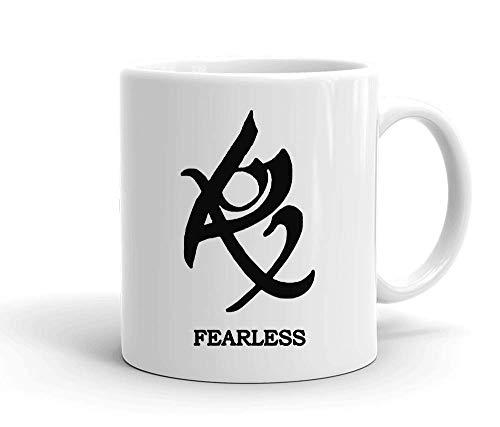 IDcommerce Fearless Rune Tasse en Céramique Blanche pour Le Thé Et Le Café