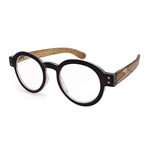 Rund Lesebrille für Herren - Haodasi Mode Stil Design Feder Vintage Rahmen Klassisch Damen Brille Stärke +1.0 zu +3.5