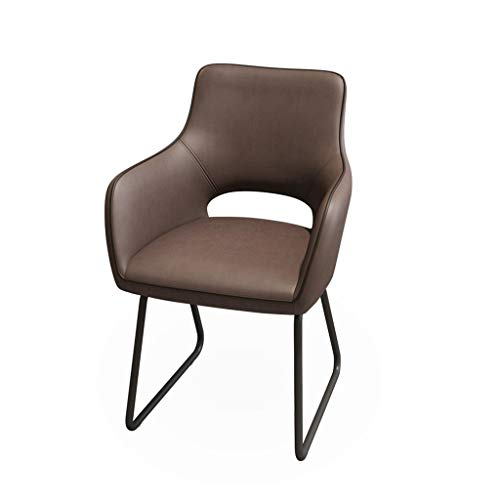 Ppy778 Computer-Stuhl-Brown-Hauptstuhl-Leder-Studien-Tisch und Stuhl-Bürostuhl-Studien-Stuhl-Spiel-Stuhl Esports-Stuhl (Color : Brown, Size : 62CM*57CN*88CM) - Handwerker Wohnzimmer Stuhl