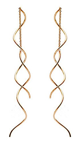 SaySure - 18K White / Rose Gold Plated Earrings Jewelry