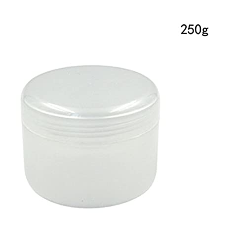 8 Oz (250g) Empty Refillable Makeup Jar Pot Face Cream Lotion Cosmetic Container with Inner and Dome Lid(Pack of