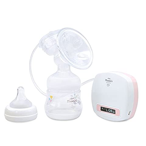 Little Martin's Tire-lait électrique - soutien aux mères allaitantes - Sans fil, rechargeable et Moteur Silencieux - Compacte, léger et facile à transporter - tient dans un sac à couches (Rose)