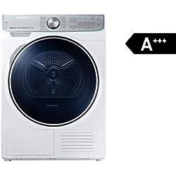 Sèche-linge à pompe à chaleur Samsung A+++ + commande WiFi + séchage super silencieux. 9 kg Blanc.