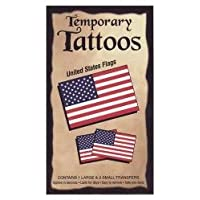 American Flag Temporary Tattoos - 3.5