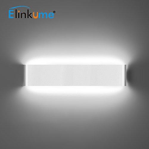 ELINKUME 14W Aluminium Acryl Moderne LED-Wandleuchte 85-265V Up Down Moderne Wandlampen Innen mit 70 LEDs 2835 1540 Lumen Kaltweiß - 800 Low Power Kit