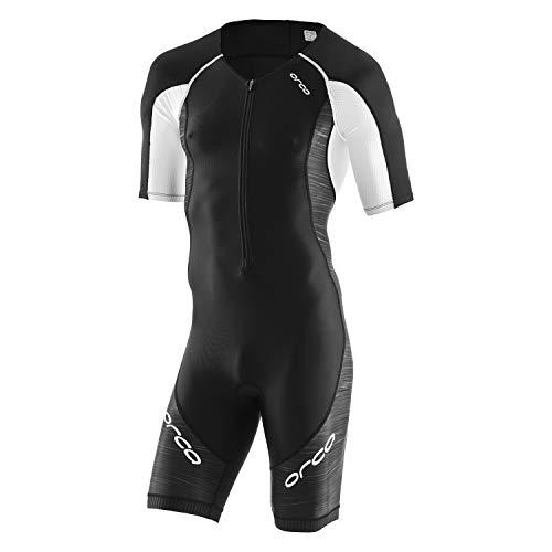 Orca Herren Core Tri Race Anzug kurzärmlig, schwarz/weiß, X-Large