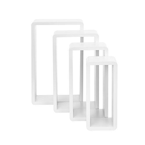 Weiß Lackiert Ablagen ([en.casa]® 4-teiliges Wandregal weiß matt lackiert MDF)