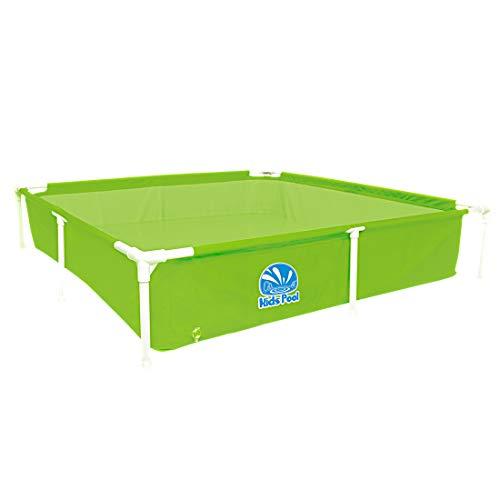 Jilong Kids Pool Grün 152x152 Stahlrahmen Planschbecken Kinder-Pool Schwimmbecken Garten Schwimmbad