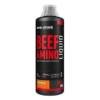 Body Attack 100 % Beef Amino Liquid Orange, 1er Pack (1 x 1 l)