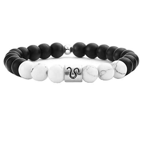 MeiPing Zodiac Aries Perlen Armband Kette Manschette Für Männer Löwe (Bis Paare Kleid Halloween)