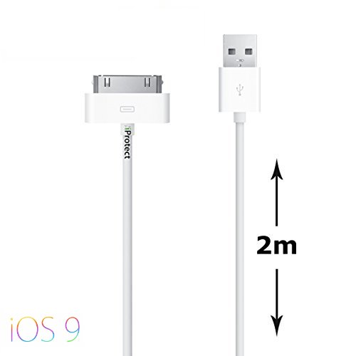 original-iprotect-cable-de-datos-usb-con-funcin-de-carga-2-metros-para-iphone-y-ipod-4s-4-3gs-classi