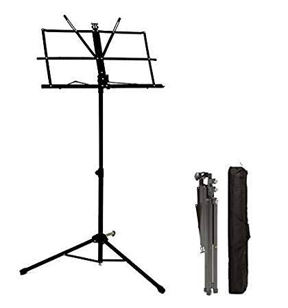 SIKO REEDS Height And Angle Adjustable Orchestral Conductor Sheet Notation/Stand With Cover (Black)