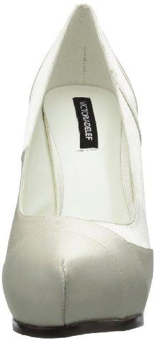 Victoria Delef Wedding Shoe, Escarpins Bout ouvert femme Blanc - Weiß (BLANCO)
