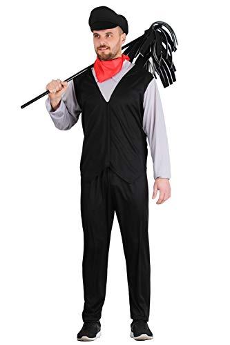Pegasus Vestito Costume Maschera di Carnevale Adulti - Spazzacamino - Taglia M - 44/46 Uomo