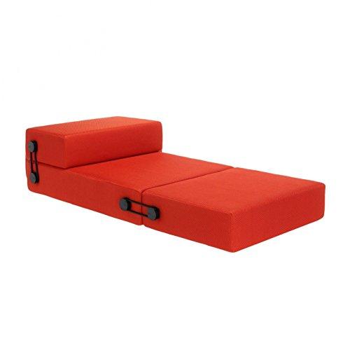 Kartell 6025/02 trix pouf/chaise longue/letto, arancione