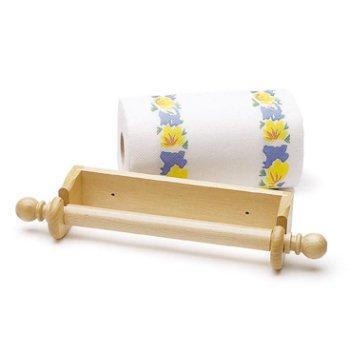 kitchen-craft-beech-wood-wall-mounted-paper-towel-holder