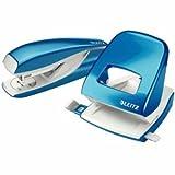 Leitz Locher NeXXt 5008 und Heftgerät NeXXt 5502 im Set blau metallic