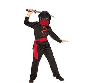 Rubies - Disfraz de ninja sin rostro para niños, talla 8-9 años (Rubies 881121-L)