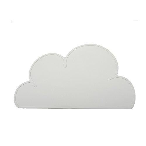 Silikon Platzsets, niedliche Wolken Form BANY Tisch Matten Weich Wasserdicht Rutschfest hitzebeständig Pad für Kinder Lebensmittel Mats BPA-frei (grau) (Lebensmittel-mat)