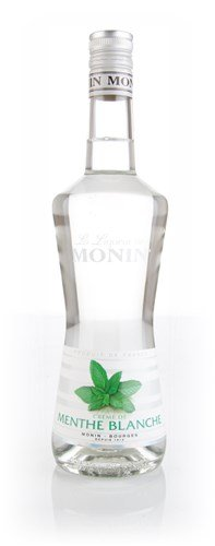 Crème de Menthe Blanche, weißer Minzlikör, Monin, 20% vol., 700 ml