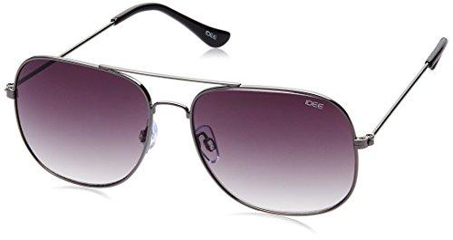 IDEE Gradient Square Men's Sunglasses - (IDS2069C2SG|58|Light Blue Mirror lens) image