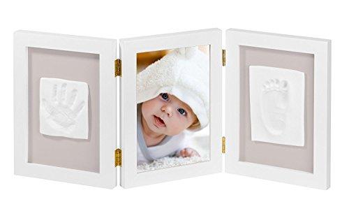 NIMAXI marco fotos bebé huella mano pie 3D, Portafotos