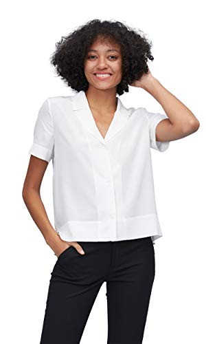 32c268e41c06d4 LilySilk Seide Seidenbluse T-Shirt Hemdbluse Kurzarm Bluse Damen Verpackung  MEHRWEG