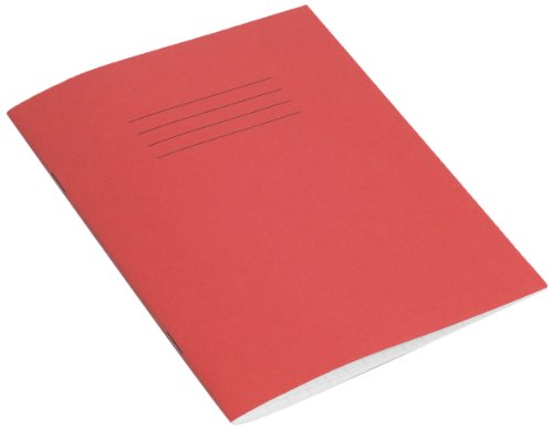 RHINO 48 Page 10mm Squares Exercise Book - Red, Pack of 10